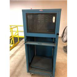"Adapto Storage Products Computer Cabinet 30"" x 30"" x 70"""
