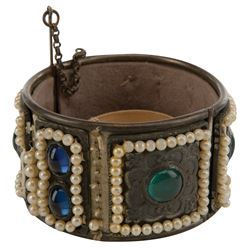 """Claudette Colbert """"Empress Poppaea"""" arm bracelet from The Sign of the Cross."""