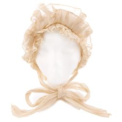 """Bonnet worn by guest at """"Scarlett's"""" wedding in Gone with the Wind."""