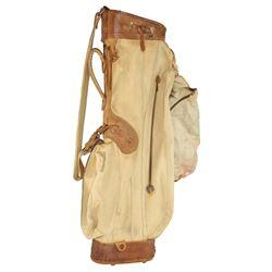 Clark Gable personal leather golf bag.