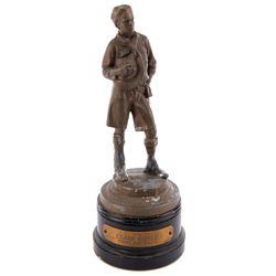 Clark Gable personal commemorative trophy.