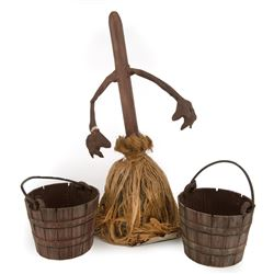"""Fantasia """"walking broomstick"""" and buckets from """"The Sorcerer's Apprentice""""."""