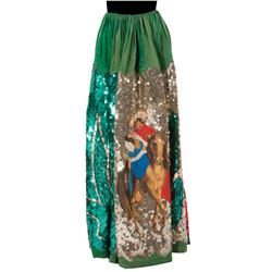 Dorothy Lamour personal elaborate sequined green skirt.