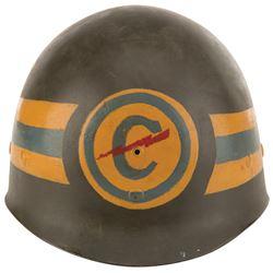 Dorothy Lamour personal military tour helmet.