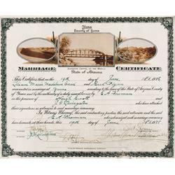 Errol Flynn and Lili Damita original marriage certificate.