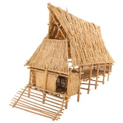 Bamboo hut miniature from Road to Bali.