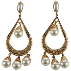 "Lana Turner ""Samarra"" pair of earrings from The Prodigal."