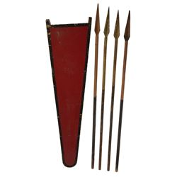 Prop chariot spears and sheath from The Ten Commandments.