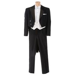 """James Dean """"Jett Rink"""" tuxedo ensemble and accessories from Giant."""