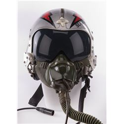 """Rick Rossovich """"Slider"""" flight helmet from Top Gun."""