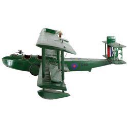 "Vickers F.B.5 ""Gunbus"" biplane filming miniature from Sky Bandits."