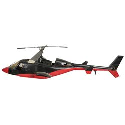"""""""Redwolf"""" RC helicopter model miniature from the Airwolf episode """"Airwolf II""""."""