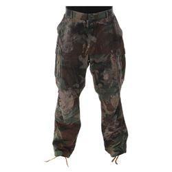 "Arnold Schwarzenegger ""Dutch"" distressed pants from Predator."