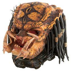 """""""Predator"""" prosthetic mask display from Predator 2."""