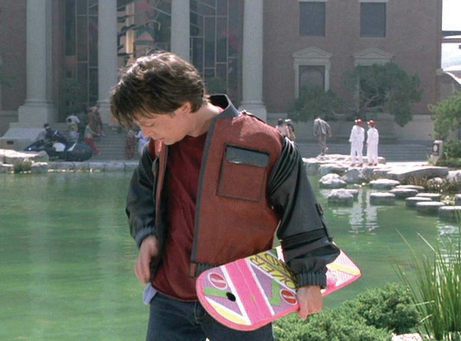michael j fox marty mcfly hoverboard prop from back to the future part ii. Black Bedroom Furniture Sets. Home Design Ideas
