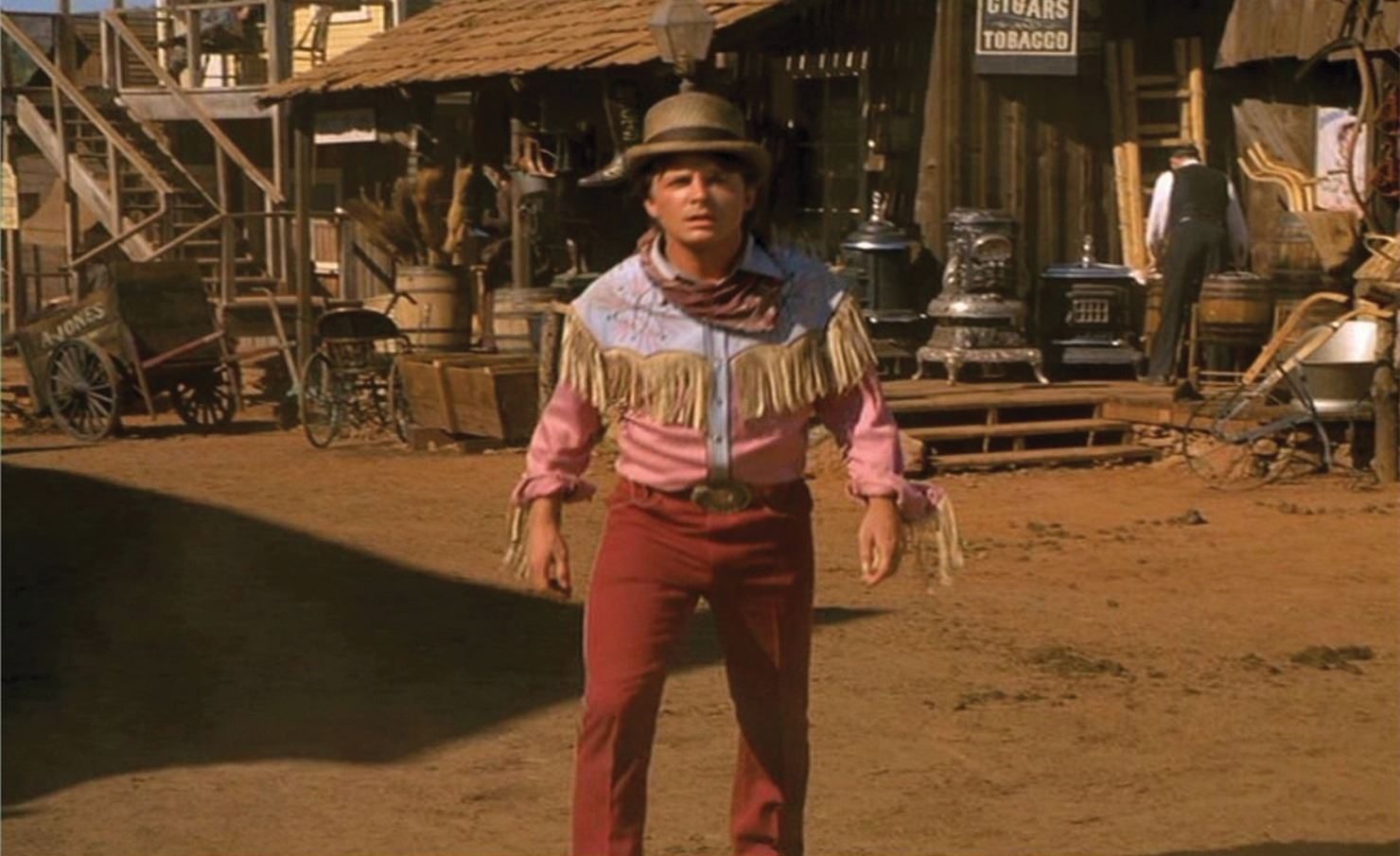 michael j fox marty mcfly western costume from back to the future part iii. Black Bedroom Furniture Sets. Home Design Ideas