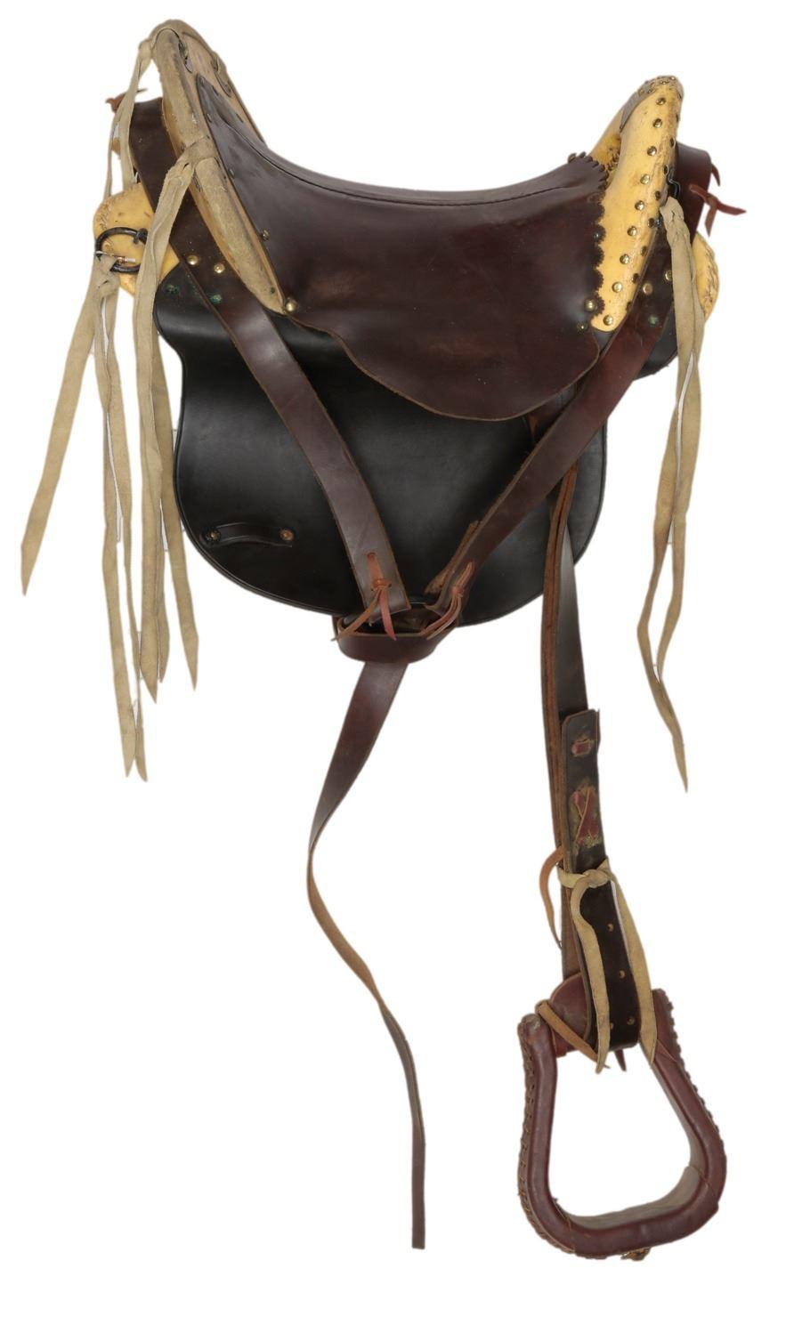 """Wes Studi """"Geronimo"""" saddle from Geronimo: An American"""