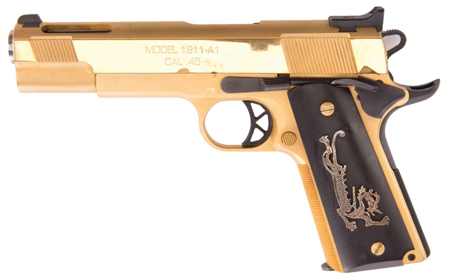 Nicholas Cage Castor Troy 24k Gold Titanium Springfield Armory