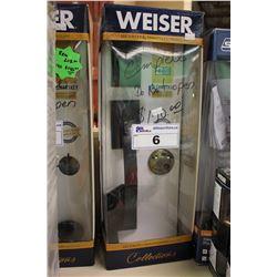 WEISER SMART KEY DEADBOLT AND DOOR HANDLE KIT - BLACK
