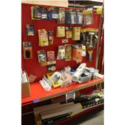 ENTIRE SHELF OF ASSORTED WINDOW HARDWARE AND MORE