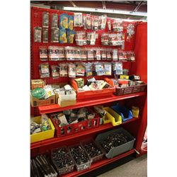 ENTIRE SHELF OF ASSORTED HARDWARE AND MORE