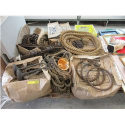 Skid of Movie Prop Ropes, Chain & More