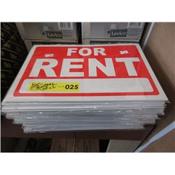 "25 Bundles of 12 ""For Rent"" Signs"