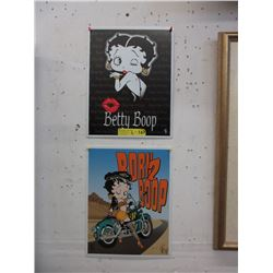 "2 New Metal Betty Boop Signs - 12"" x 16"""