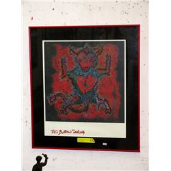 "Limited Edition Lithograph ""Red Buffalo Dancing"""
