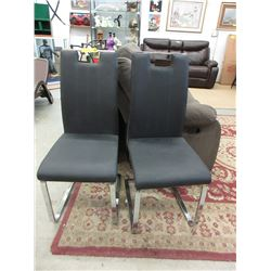 Pair of New Leather Like Side Chairs