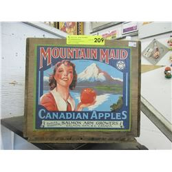 Canadian Mountain Maid Wood Apple Crate