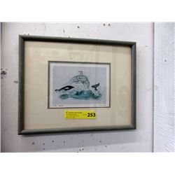 "Framed Sue Coleman Print ""The Orca"""