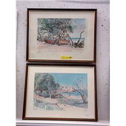 2 Framed Stuart Prints of Barbados