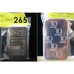 TD Bank &Johnson Matthey .999 Silver 5 Oz.Bar