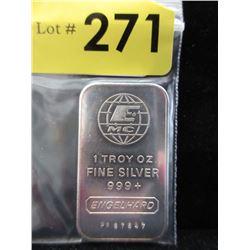 1 Oz. RareEngelhard.999 Silver Bar