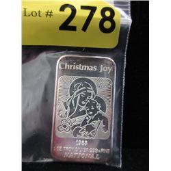 1 Oz. National Mint.999 Silver Bar