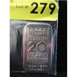 20th Anniversary Simpsons-Sears .999 Silver Bar