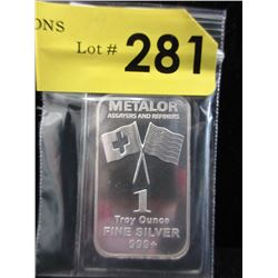 1 Oz. Swiss/AmericanMint.999 Silver Bar