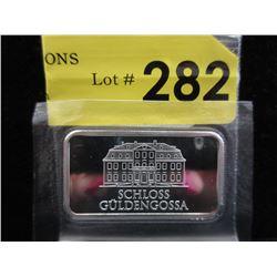 1 Oz. Geiger Edelmetalle .999 Silver Bar