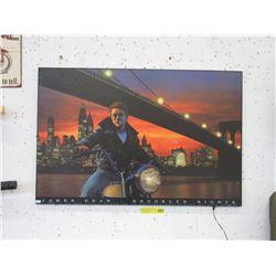 Illuminated James Dean Poster on Board