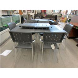 New Nardi Musa Patio Table with 6 Chairs & Leaf
