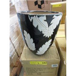 2 New 3 Piece Set of Ceramic Plant Pots