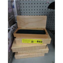 18 New Wood Pen Boxes - Removable Inserts