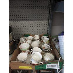 Box of China Tea Cups - No Saucers