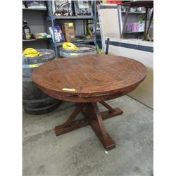 New LH Imports Round Dining Table with Leaf
