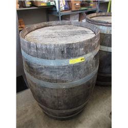 Metal Bound Louisville Wood Barrel