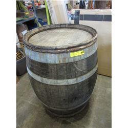 Metal Bound Wood Barrel