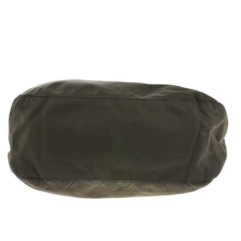 9c6a97efad ... Image 3   Authentic PRADA Nylon Olive Brown Purse Bag ...
