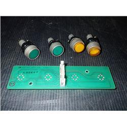 HURCO 415-0190 MAX 3 CONSOLE PUSHBUTTON PCB