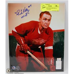 DETROIT RED WINGS RED KELLY HOF 69 SIGNED 8X10